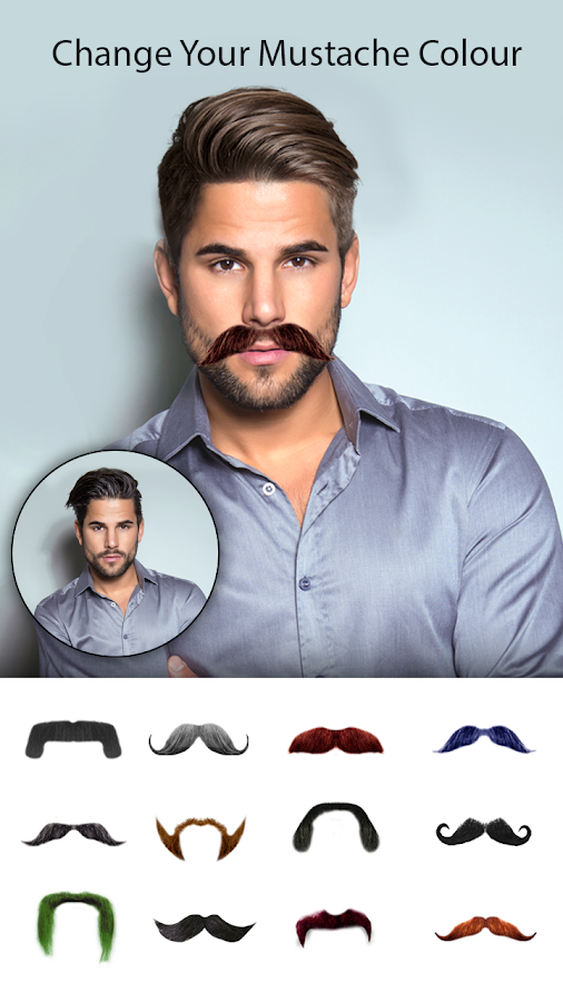 Man Photo Editor Man Hair Style Mustache Suit Android Apps - Hair style change photo effect