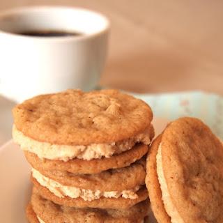 Gluten-free Oatmeal Peanut Butter Sandwich Cookies.