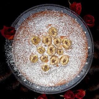 Lebanese Banana Cake with Yogurt and Rose Water Recipe