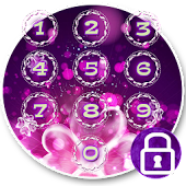 Purple Flower Love Locker Theme
