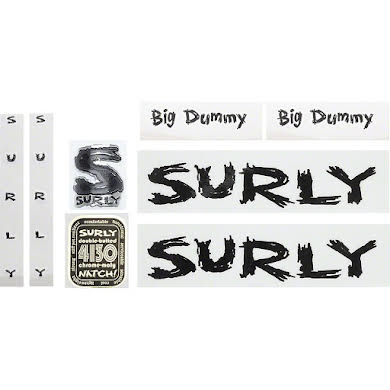 Surly Big Dummy Frame Decal Set with Headbadge