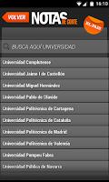 Screenshot of Notas de Corte