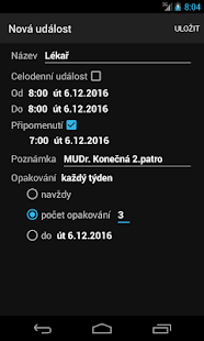 Kalendář CZ - náhled
