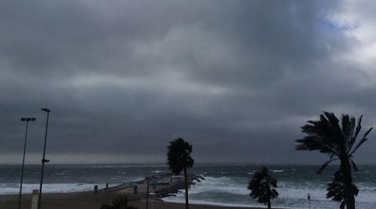 Imagen de archivo de un día de tormenta en Almería.