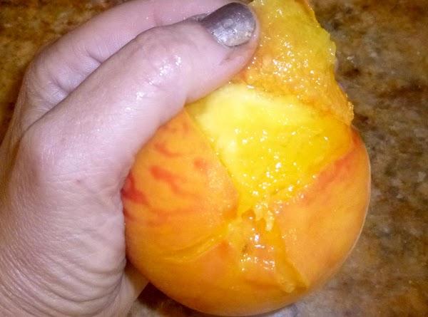 Easy peeled peaches!