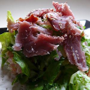 Small Smoked Fish Salad on Flatbread