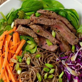 Soba Noodle Steak Salad.