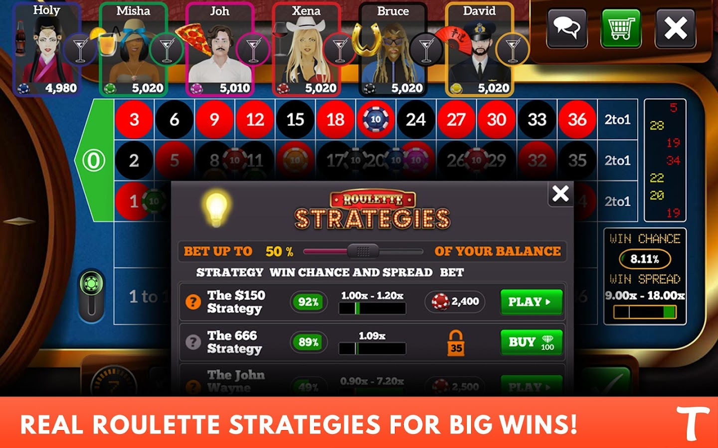 Roulette for Tango- screenshot