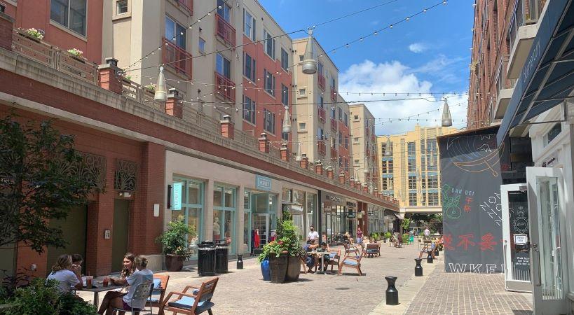 downtown Bethesda pedestrian street