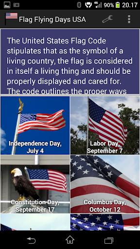 Flag Flying Days U.S.