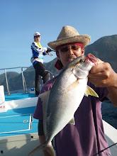 Photo: こちらもお久しぶりのヤマダさん!魚もお久しぶりの「ネリゴ」キャッチ!・・・リリース頂きました。