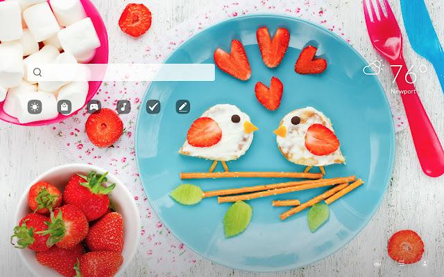 Food Art HD Wallpapers New Tab
