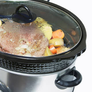 Slow Cooker Beef Pot Roast and Vegetables.