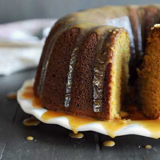 Pumpkin Spice Bundt Cake with Creamy Pumpkin Glaze