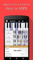 Screenshot of Piano Companion PRO: chord