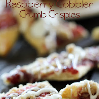 Raspberry Cobbler Crumb Crispies