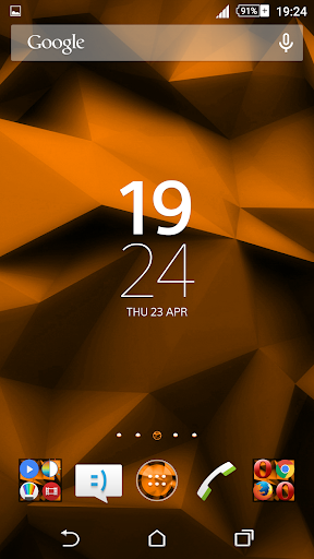 Orange Polygons Xperien Theme