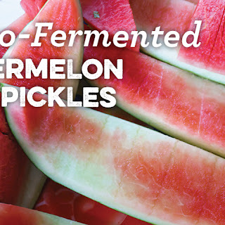 Lacto-Fermented Watermelon Rind Pickles
