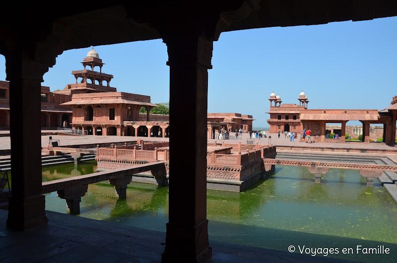 Vue depuis la résidence de l'empereur, fatehpur sikri