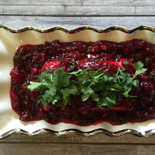 Spicy Cranberry Sauce and Cream Cheese Dip