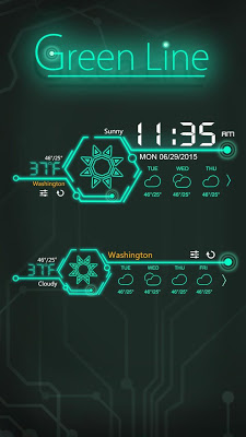 Green Line GO Weather Widget - screenshot