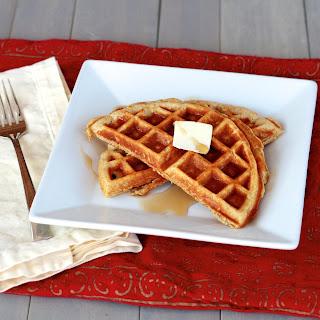 Whole Wheat Oatmeal Yogurt Waffles.