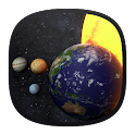 Solar System 3D Free LWP icon