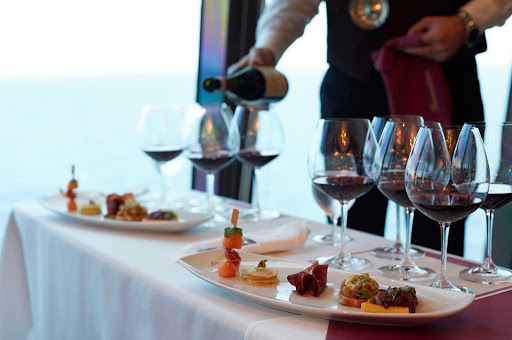 Oceania-wine-tasting.jpg - Oceania Cruises and Wine Spectator team up to produce La Reserves, which offers seminars and tastings of vintage wines.