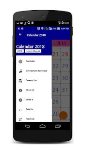 Thailand Calendar 2018 - náhled