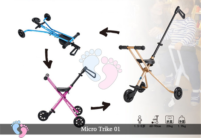 Xe đẩy siêu nhẹ Micro Trike 01 5