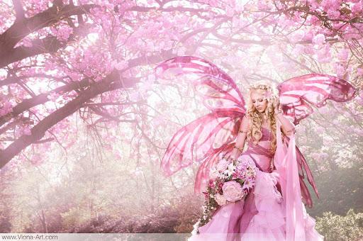 Pink Fairy HD Live Wallpaper screenshot 1