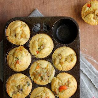 Chicken Pot Pie Cornbread Muffins.