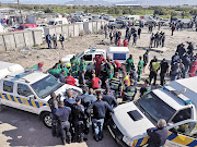 The scene in Sweet Home Farms after two City of Cape Town law enforcement officers were shot on September 4 2019.