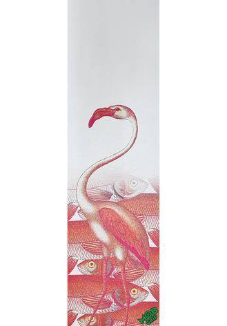 9in x 33in Pajaros Flamingo MOB-Griptape
