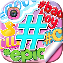 Hashtag Stickers for Pictures icon