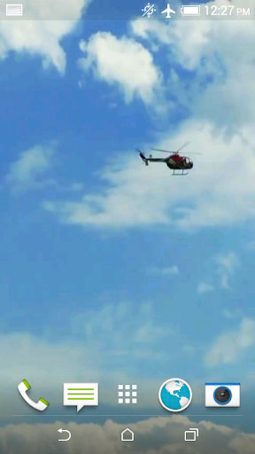 Helicopter Video 3D Wallpaper