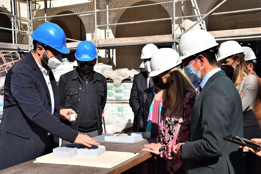 Diputación y Junta sellan su alianza para impulsar las obras del Antiguo Hospital Provincial.