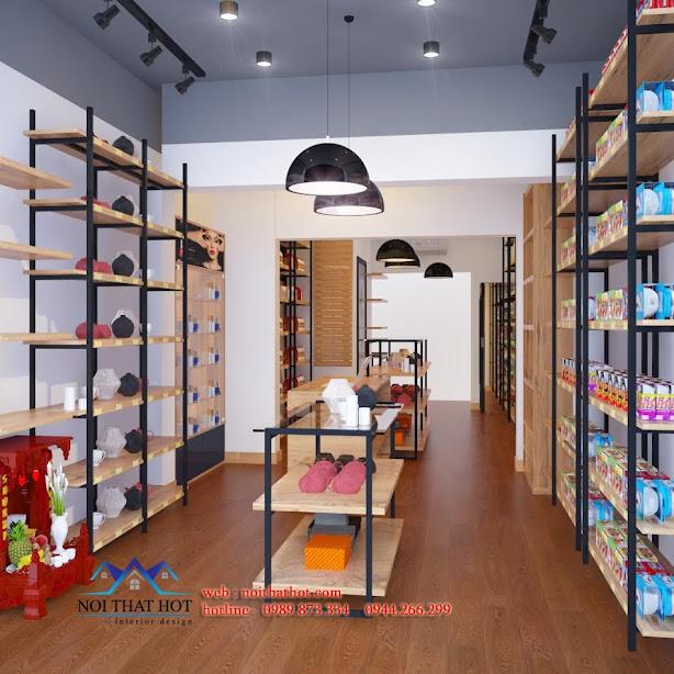 Thiết kế cửa hàng xuất nhập khẩu hiện đại