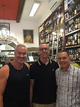 Photo: After Roger left, a second visitor, my close friend Frank Alvarez, arrived from Florida. Here's Frank, Chris and I at the store, Gilberto, where we I bought 40 year old balsamic vinegar last year. The shop is a great place to pick up nice souvenirs to bring home ...