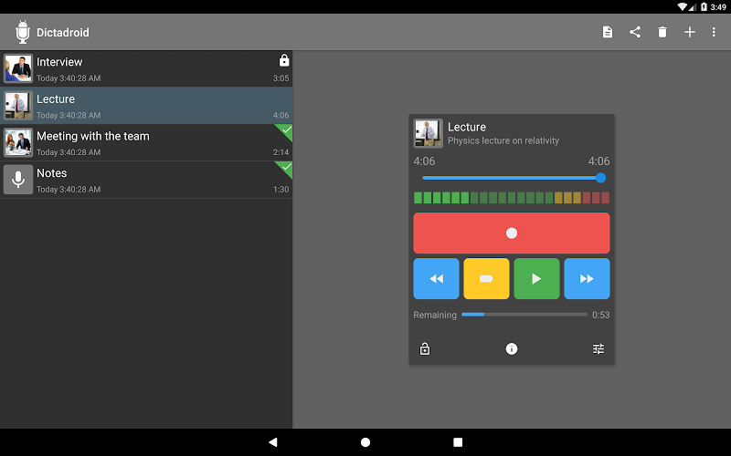 Dictadroid Voice Recorder Screenshot 8