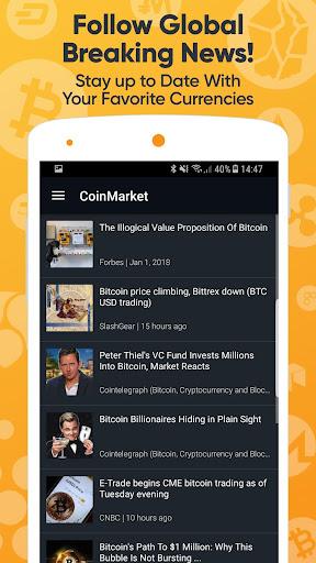 CoinMarket , Bitcoin, Ethereum +Alt - CryproRate  screenshots 2