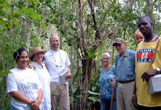Photo: 2002 Dr. George R. Proctor (3rd. from right), author of the FLORA of the CAYMAN ISLANDS, with group, in the Ironwood Forest,  behind the University College of the Cayman Islands (formerly called the Community College of the Cayman Islands) Nov. 13, 2002