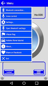 IRacer & Arduino BT controller screenshot 2