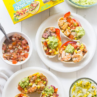 Shrimp, Steak & Chicken Mini Burrito Bowls.