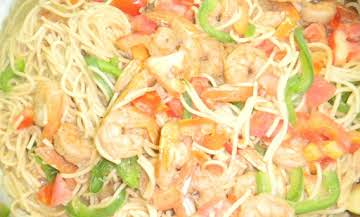 VANILLATED SHRIMP PASTA IN COCONUT MILK