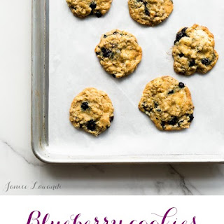 Blueberry Cookies With White Chocolate And Rosemarry