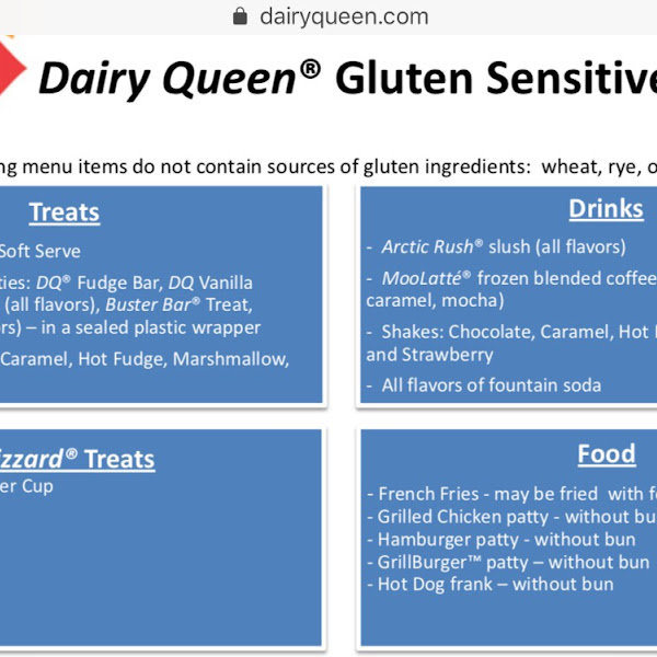 Dairy Queen's Gluten Free Options