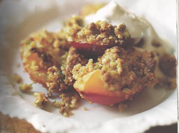 Nectarine And Pistachio Crumble Recipe