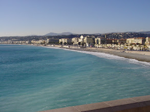 Photo: Looking down the beach and Promenade, and more of the famous sea color.