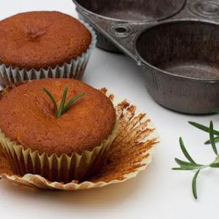 Gluten Free Dairy Free Orange Rosemary Cupcakes.